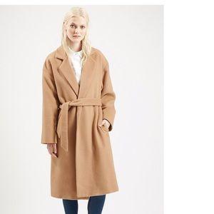 Topshop Long Belted Coat